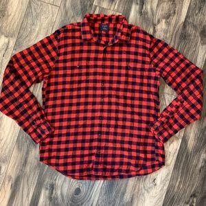 J Crew mens XL tall flannel Red Buffalo Check